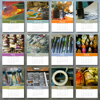 2019 Artists' Studios photo calendar 5x7 month per page