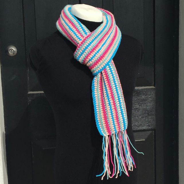 Multicolour Crochet Scarf