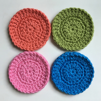 Crochet Face Scrubbies x 4 (bold colours)