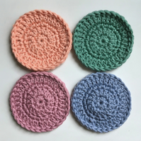 Crochet Face Scrubbies x 4 (vintage colours)