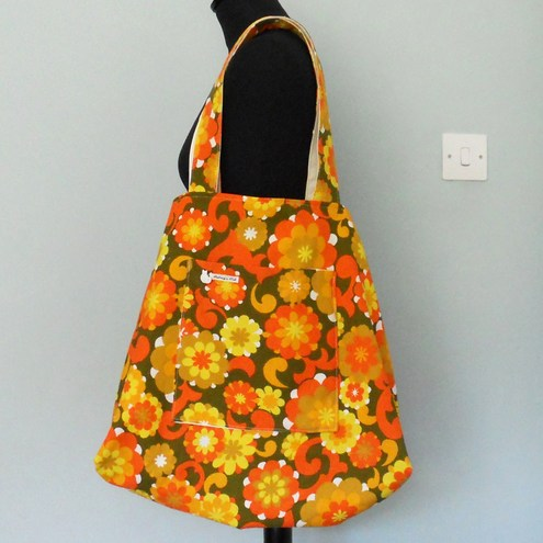 Vintage Fabric Custom Made Beach Bag