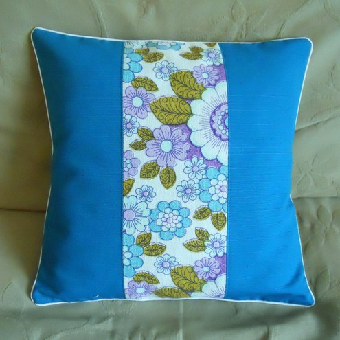 Vintage Fabric Cushion - 'By the Pool'