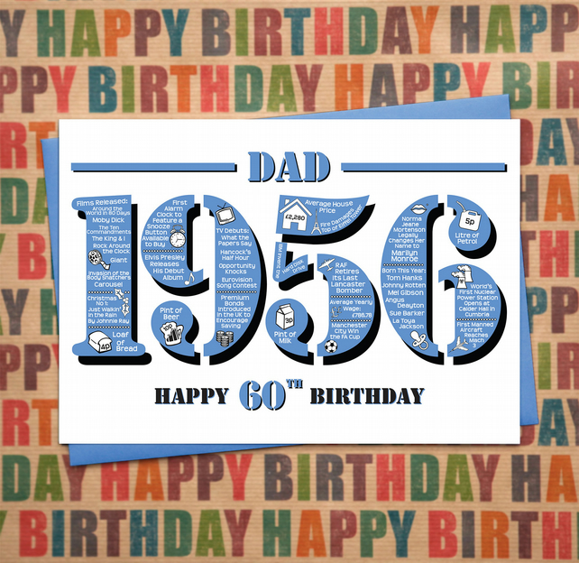 Happy 60th Birthday Dad Greetings Card