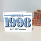 Happy 18th Birthday Brother Greetings Card - Year of Birth - Born in 1998 Facts