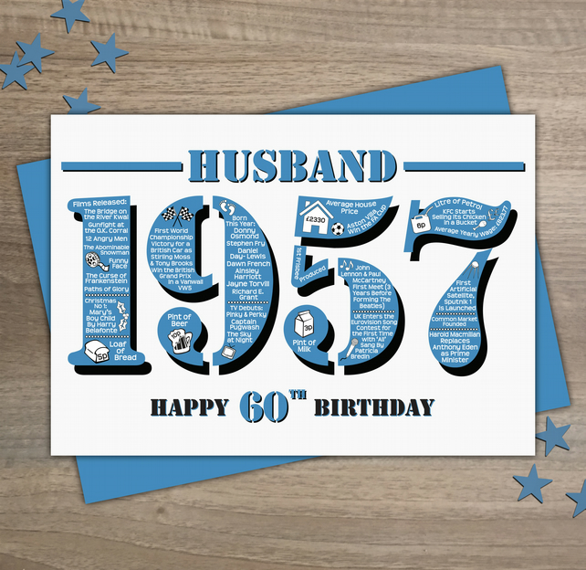 Happy 60th Birthday Husband Year Of Birth Greet