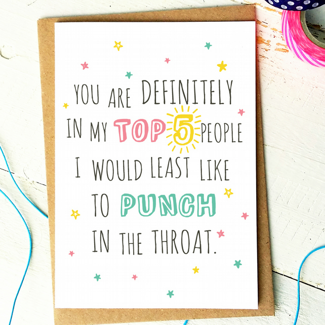 Super Funny Birthday Card Funny Friend Card Best Folksy Personalised Birthday Cards Bromeletsinfo