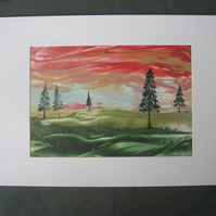 Encaustic Art Landscape