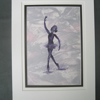 Ballet Dancer Encaustic Art
