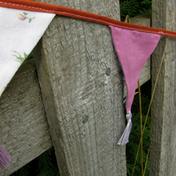 Mauve and pink mini bunting