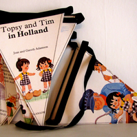 Vintage book bunting -Topsy and Tim