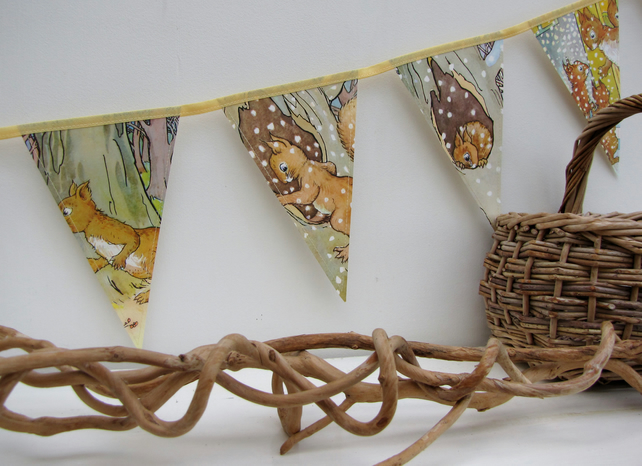 Paper book bunting - Bob Bushtail's Adventure