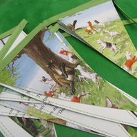Vintage paper bunting - The Wolf and the Seven Little Kids