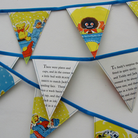 Vintage paper bunting - Andy Pandy (Jack in the box)
