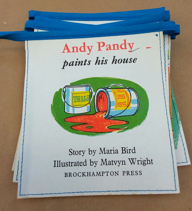 Book bunting - Andy Pandy (paints his house)