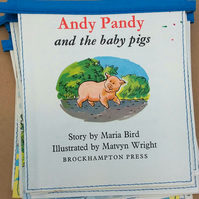 Book bunting - Andy Pandy (and the baby pigs)