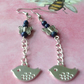 Lapis Butterfly and a Bird on a Chain Earrings