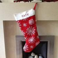 Luxury personalized xmas stocking
