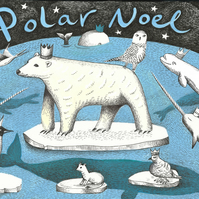 3-card pack of 'Polar Noel' Illustrated Christmas Cards