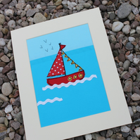 Little Red Sailing Boat