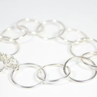 Classically Chic Statement Silver Chainmail Bracelet