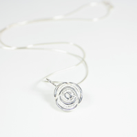 Hand Cast Mackintosh Style Rose Pendant