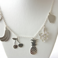 Handmade Silver Summer Fruit Salad Necklace