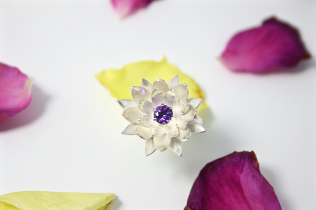 Water Lily Statement Ring