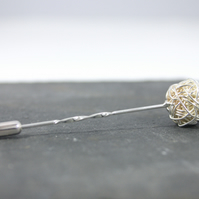 Wire Bead Stick Pin Brooch