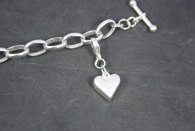 Cast Silver Heart Charm