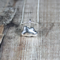 Handmade Solid Silver 'Silver Linings' Cast Cloud Necklace