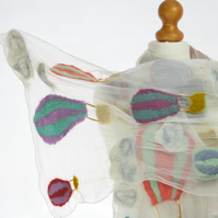 Up, Up and Away Hot Air Balloon Felt and Silk Scarf
