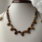 Tigers eye, necklace or headband brown, black, gold.
