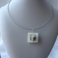 The square cube necklace, beige, cream, grey. Trendy