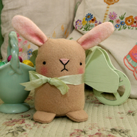 Cute biscuit colour wool felt Easter bunny rabbit