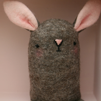 Cute brown wool Felt Easter Bunny