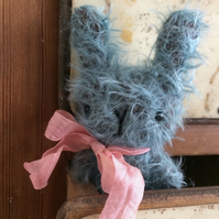 Sweet little Eliza Easter bunny rabbit , lovely blue mohair.