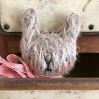 Sweet little Ida mohair Easter bunny rabbit.