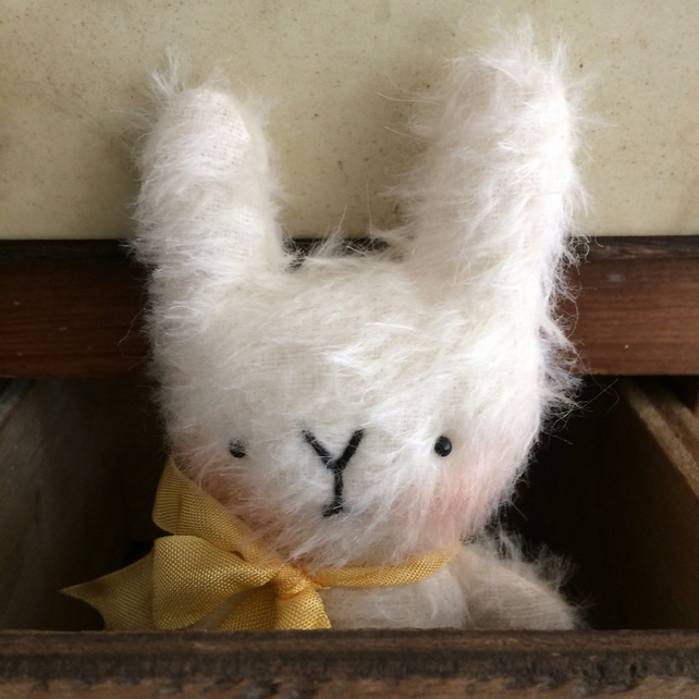 Sweet little Claude mohair Easter bunny rabbit.