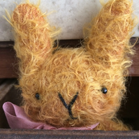 Sweet little Hubert mohair Easter bunny rabbit.
