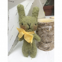 Sweet little Herbert green mohair Easter bunny rabbit