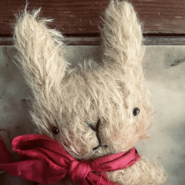 Sweet little Valentin mohair bunny rabbit