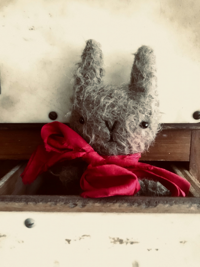 Sweet little Benito mohair bunny rabbit