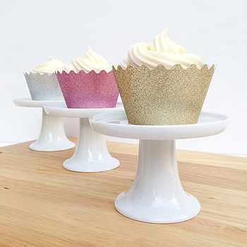 6 Reuseable Sparkly Cupcake Wrappers