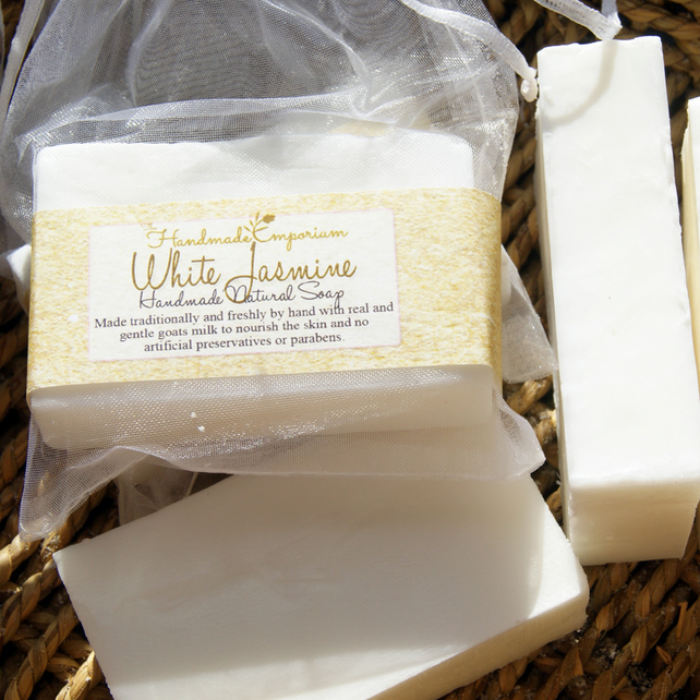 White Jasmine Natural Goats Milk Soap