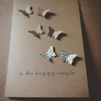 Butterfly Wedding, Engagement Card