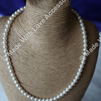 Pearl Necklace - Bridal Jewellery - Wedding Accessories - Bridesmaids Gifts