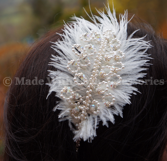 Vintage Pearl Side Tiara - Pearl Tiara - Hair Accessories - Bridal Accessories