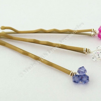 Crystal Hair Pins - Bridal Accessories - Bridesmaids Hair Accessories