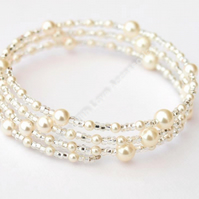 Pearl Bracelet - Swarovski Pearl Bracelet - Bridal Jewellery - Wedding Accessori