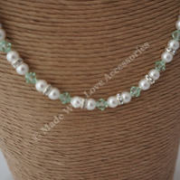 Pearl and Crystal Necklace - Bridal Jewellery - Bridesmaids - Bride's Mother